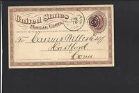 EMMETTSBURG IOWA GOVERNMENT POSTAL CARD,1875.  PALO ALTO. 1877/OP