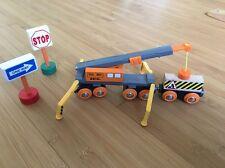 BRIO 33734 Mega Kran Set mit Figur, Holz Eisenbahn Kranzug Gebraucht