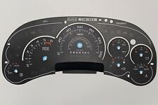 06 FACTORY OEM GM CADILLAC ESCALADE PLATINUM DASH CLUSTER GAUGE FACE INLAY ONLY