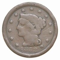 1852 US BRAIDED HAIR LIBERTY Head Large Penny Coin Circulated US Currency 32921F