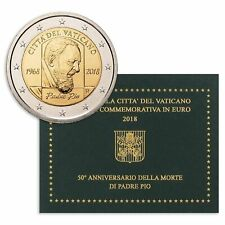 "**2 euro 2018 Vaticaan Vatican ""Padre Pio"" - FDC/ BU Commerative** In Stock!"