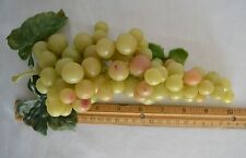 "10"" Cluster Green Grapes Vtg 1990 Decoration Hollow Plastic Bunch 2 Available"