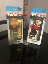 Popeye Olive Oyl Stuffed Figures 1990 Toy Toons Thimble Theater King Features