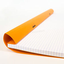 Rhodia Large A3 Orange 5/5 Square Grid 5mm Paper Notebook Pad Maths Art Design