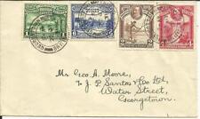 British Guiana SG#283,#286,#284,#285 Georgetown 22/JY/31 to USA, backstamp