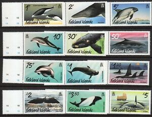 Falkland Is. 2012 Whales and Dolphins set fine fresh MNH