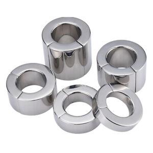 Magnetic Stainless steel Ball Stretcher Heavy Duty Male Body Enhancer Ring