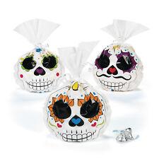 24 Halloween Calavera Día de los muertos Bolsas celofán favor fiesta sorpresa