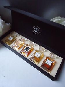 CHANEL 5x 4ml Parfum Large Miniature New Boxset Vintage 2005 No5 Coco Allure etc