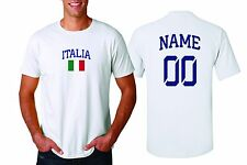 Italy Italia T-shirt Soccer Jersey any Sports Add Any Name & Number men's adults