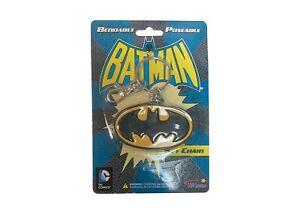 Batman Bat Signal Rubber Keychain DC Comics Gotham Justice League Bruce Wayne