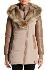 RUDSAK Women's Grace Down Parka With Fur Trim Beige Size S $995