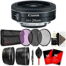 Canon EF-S 24mm f/2.8 STM Lens with Accessory Kit For Canon 80D, 77D and 70D