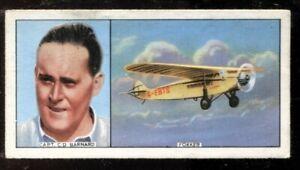 Tobacco Card, Carreras,FAMOUS AIRMEN & AIRWOMEN,1936,Charles Douglas Barnard,#33