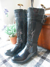 Zip Knee High Boots Patent Leather Unbranded Women's