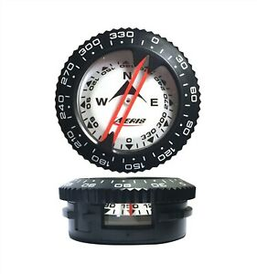 Aeris Standard Side Scan Compass Dive Module for Scuba Diving Top & Side Reading
