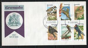 Grenada FDC stamps birds