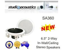 "STUDIO ACOUSTICS SA360A 6.5"" 2-WAY 80W IN-WALL IN-CEILING SPEAKERS (1 PAIR)"