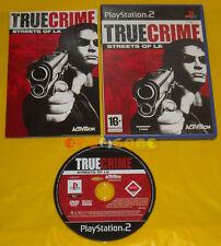 TRUE CRIME STREETS OF LA Ps2 Versione Ufficiale Italiana 1ª Edizione »» COMPLETO