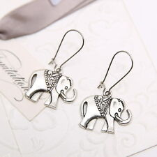 Fashion Jewelry Elephant Earrings Charms Tibetan Silver Drop Dangle Women Gifts