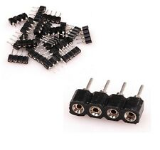 5x Cable conector bobina LED RGB 4 PINES M/F controlador MASCULINO FEMENINO tira