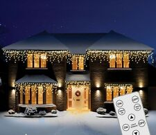 360 Remote Control LED Multi-coloured Snowing Icicles Nite Christmas Lights
