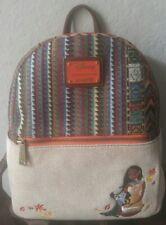 Rare HTF Loungefly Disney Pocahontas Embrodiered Mini Backpack EUC