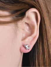 Silver Cat Stud Earrings Animal Earrings Studs UK Seller