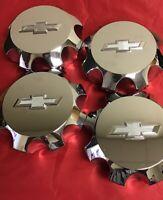 FOUR USED Chevrolet Silverado 2500 chrome wheel center hubcap OEM CAP 4376-4379