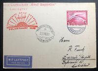 1931 Germany Graf Zeppelin PC Cover Polar Flight LZ 127 #C40 OnBoard Cancel