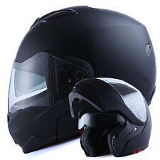 1STorm DOT Motorcycle Bike Modular Flip up Full Face Helmet Sun Visor Matt Black