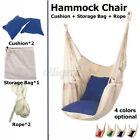 Hamac suspendu balançoire camping corde chaise en bois beige tasse jardin