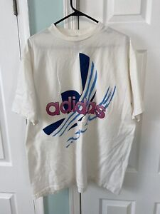 Vintage Adidas 90's Single Stitch Colorful Graphic T-Shirt Men's Sz XL USA Made