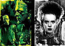 Frankenstein and Bride of Frankenstein Lot of 2 prints Quality Posters
