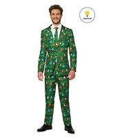 Suitmeister Men's Christmas Green Tree Christmas Light Up Suit XXL