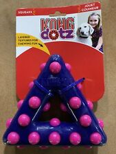 LARGE KONG Dotz Purple Pink Triangle Dog Toy LARGE Nubby NWT
