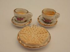 Dolls house food: Tea & shortbread biscuits for two  -By Fran