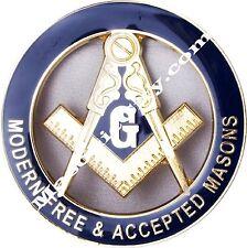 Z-18 Modern Free & Accepted Masonic Auto Emblem FreeMasonry Car Lodge Mason