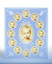 My First Year Photo Frame (Blue) Baby or Christening Gift Idea