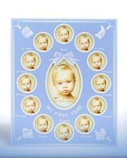 Ma première année cadre photo (bleu) bébé ou baptême idée cadeau nouveau 18173