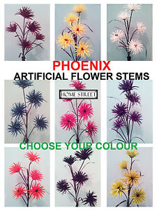 Tall Phoenix  Flower Stems 95cm 5 Head Fully Adjustable Artificial Fake Flowers