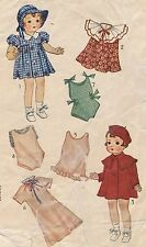 """1901 Vintage Chubby Doll Pattern - Size 16"""" - Year 1930"""