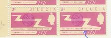 ST LUCIA 1965 ITU TELECOMMJ VARIETY BLOCK of 8 stamps