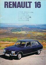 Renault 16 1975-76 UK Market Sales Brochure L TL TS TX