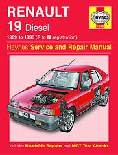 Haynes RENAULT 19 DIESEL 89-95 F a N rgistration servizio e riparazione manuale