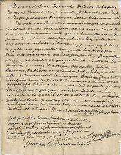 PAPIER ANCIEN PARCHEMIN DEMANDE RECONSTRUCTION HABITAT GENERALITE DE PAU 1739