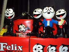 """Set de 4 felix the cat 6 figurines en céramique """"produit officiel de haute finition brillante"""