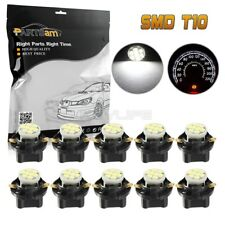 10pcs White T10 194 Wedge LED Light With Bulb Holders Gauge Cluster Instrument