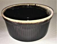 PFALTZGRAFF Souffle Casserole Baking Dish Brown Drip Glaze Vintage 1970s 408