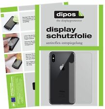 6x Apple iPhone XS Max trasero Protector de Pantalla protectores mate dipos